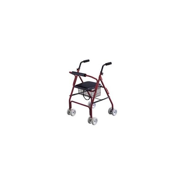 Caminador 4 ruedas ROLER Freno por Presión
