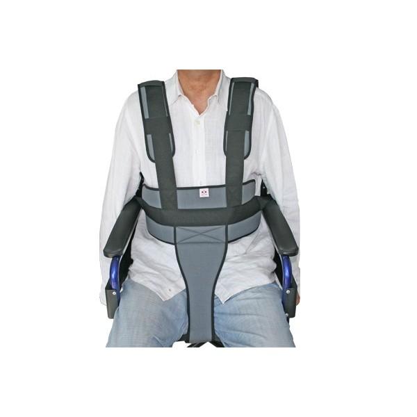 Cinturón de sujeción perineal con tirantes para silla