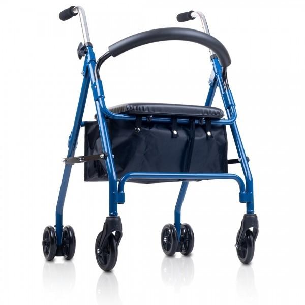 Andador con asiento y cesta (Frenos por presión)