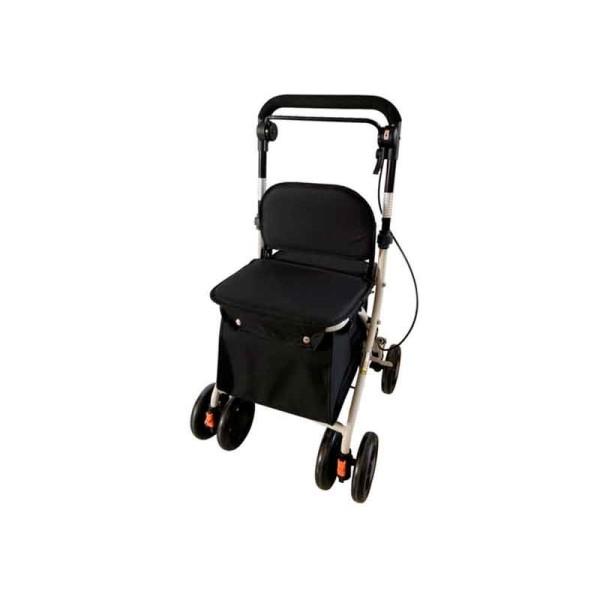 Carro-compra con asiento Negro
