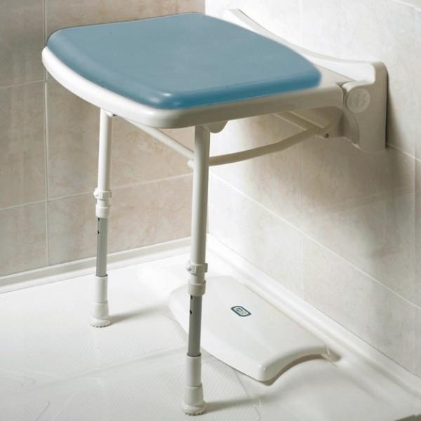 Asiento ducha abatible compacto y acolchado Mini