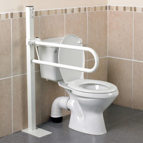 Barra de baño abatible sobre mástil
